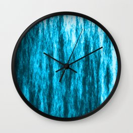 Bright texture of coated paper from light blue flowing waves on a dark fabric. Wall Clock