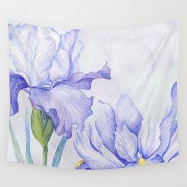 Watercolor Iris Wall Tapestry