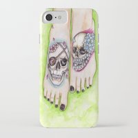 feet iPhone & iPod Cases featuring feet by musentango87