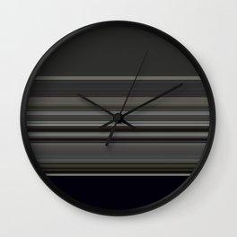 Classic Taupe Dark Grey Stripes Wall Clock