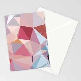 pink geometry Stationery Cards