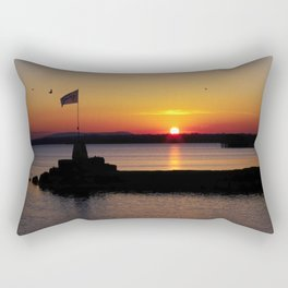 A beautiful sunset view of Lough Neagh Rectangular Pillow