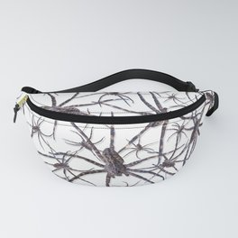 Watercolor Graphic Spider Crawl, Wolf Snow Fanny Pack