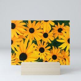 Gold Sunny Rudbeckia Flowers Mini Art Print