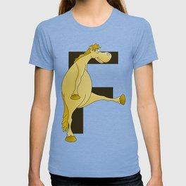 Pony Monogram Letter F T-shirt