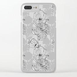 My grey garden Clear iPhone Case