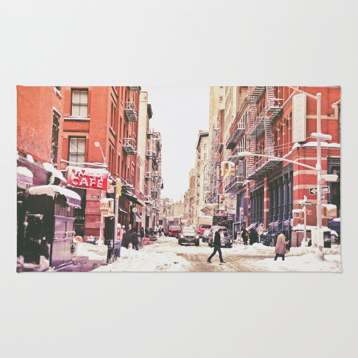 New York City Snow Soho Rug