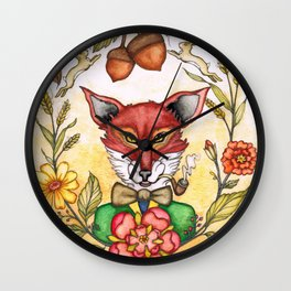 Professor Von Fox  Wall Clock