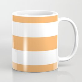 Rajah - solid color - white stripes pattern Coffee Mug