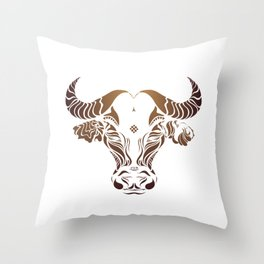Protect the Nepal Buffalo by #Bizzartino Throw Pillow