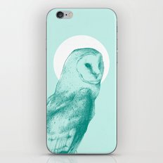 Wise Blue Owl iPhone & iPod Skin