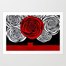 Heather's Rose Art Print