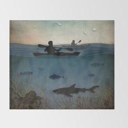 Sea Kayaking Throw Blanket
