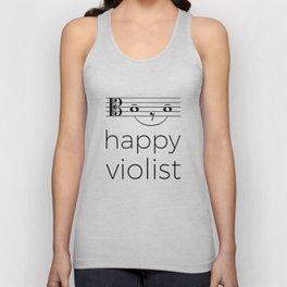 Happy violist (light colors) Unisex Tank Top
