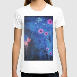 Abstract Vibrant Blue Flower Painting by Jodi Tomer. Blue, Abstract T-shirt