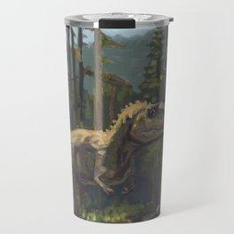 HUNT, T.rex dinosaur painting by Frank-Joseph Travel Mug