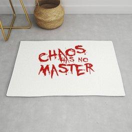 Chaos Has No Master Blood Red Graffiti Text Rug
