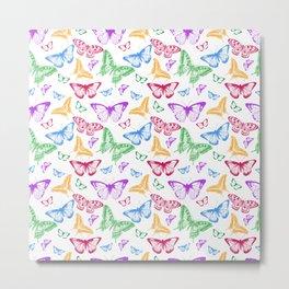 Colorfull Butterflies Metal Print