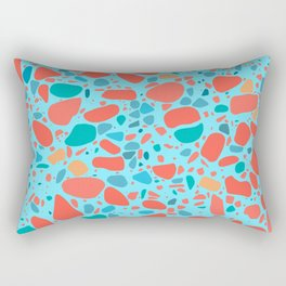 Terrazzo - Mosaic - living coral palette Rectangular Pillow