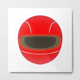Racing Helmet Metal Print