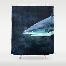 Gray Shark Head (Color) Shower Curtain