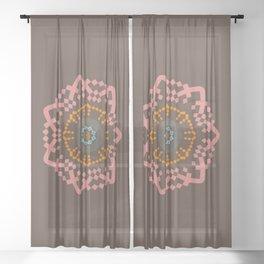 Aztec Mandala Sheer Curtain