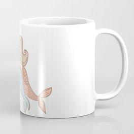Mermaid And Dolphin Drawing Coffee Mug