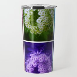 Closing Queen Anne's Lace Collage (Horizontal) Travel Mug
