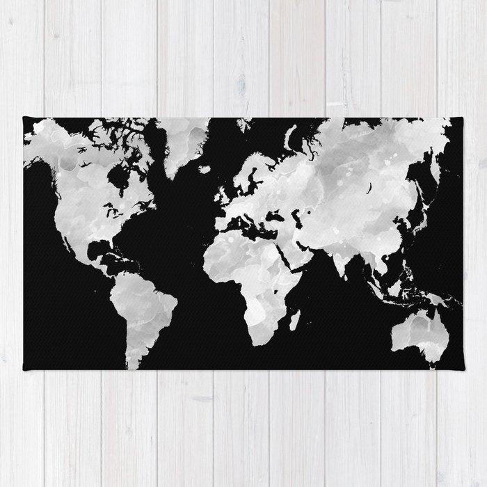 Design 70 World Map Rug By Artbylucie Society6
