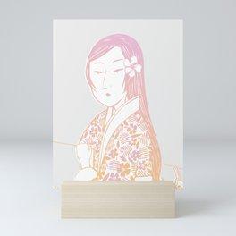 Surfing Geisha Mini Art Print
