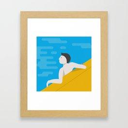 #5x5x365 • Day at the Beach Pt. i Framed Art Print