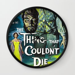 The Thing That Couldn't Die, Vintage Horror Movie Poster Wall Clock