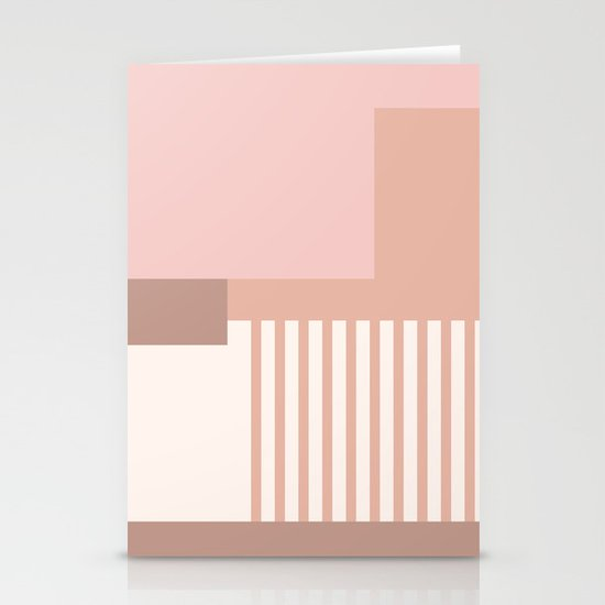 Sol Abstract Geometric Print in Pink by beckybailey1