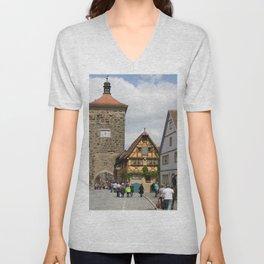 Rothenburg ob der Tauber Impression Unisex V-Neck