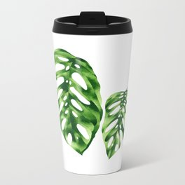 Monstera obliqua Metal Travel Mug