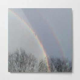 tow rainbows out there Metal Print