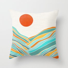 Abstract Sunset Landscape II Throw Pillow
