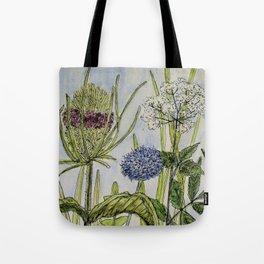 Herbs Wildflowers Garden Flowers Tote Bag