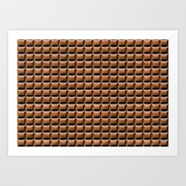 Chocolate Bar Overhead Art Print