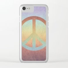Peace V Clear iPhone Case