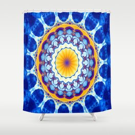 Fractal kaliedoscope/mandala M8 Shower Curtain
