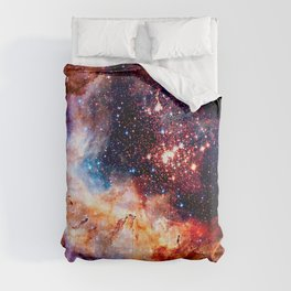 Cosmic Connection 2 galaxy space nebula stars universe Comforters