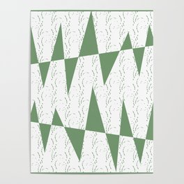 Abstract geometric pattern on white background Poster