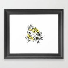 Flowery Frog  Framed Art Print