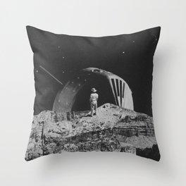 Moon Cowboy Throw Pillow