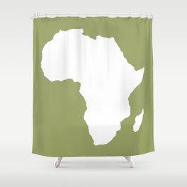 Safari Green Audacious Africa Shower Curtain
