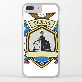 Texas Battleship Emblem Retro Clear iPhone Case