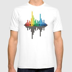 colorful city Mens Fitted Tee White SMALL