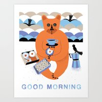 Good morning Bear Art Print