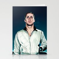 ryan gosling Stationery Cards featuring 'Drive' Ryan Gosling by Studio Caro △